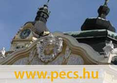 Pécs honlapjára mutató banner